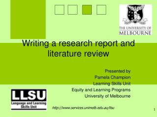 Writing a research report and literature review