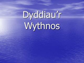 Dyddiau'r Wythnos