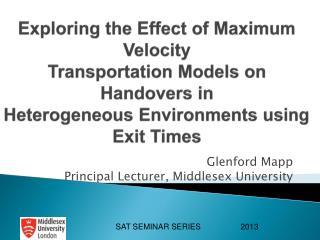 Glenford Mapp Principal Lecturer, Middlesex University