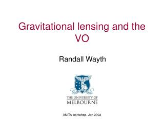 Gravitational lensing and the VO