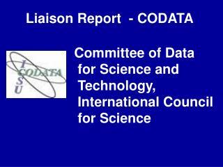 Liaison Report  - CODATA