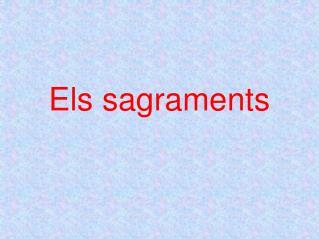 Els sagraments