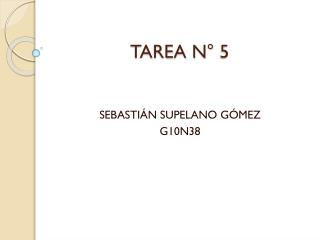 TAREA N° 5