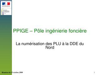 PPIGE – Pôle ingénierie foncière