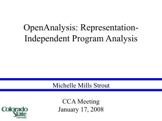 OpenAnalysis: Representation-Independent Program Analysis