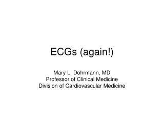 ECGs (again!)