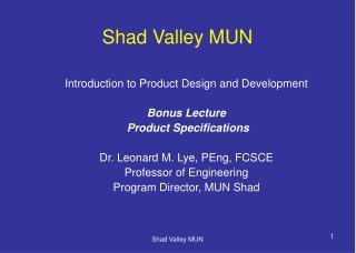 Shad Valley MUN