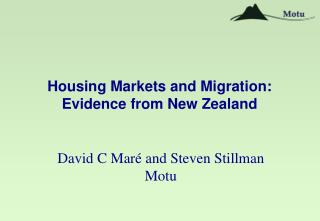 Housing Markets and Migration: Evidence from New Zealand