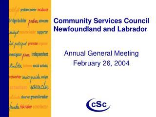Community Services Council Newfoundland and Labrador