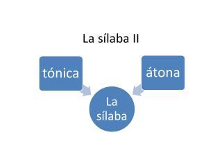 La  sílaba  II
