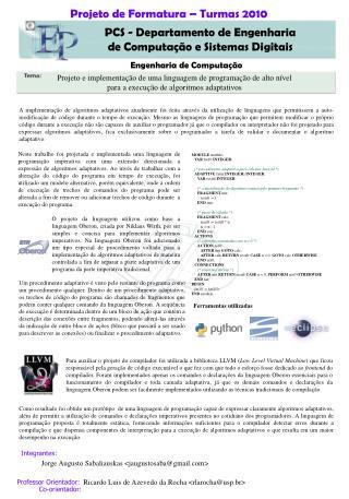 Ricardo Luis de Azevedo da Rocha <rlarocha@usp.br>