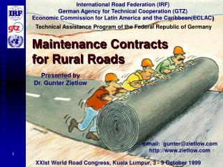 Maintenance Contracts  for Rural Roads