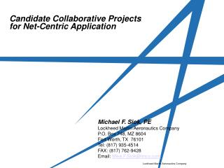 Candidate Collaborative Projects for Net-Centric Application