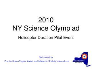 2010 NY Science Olympiad