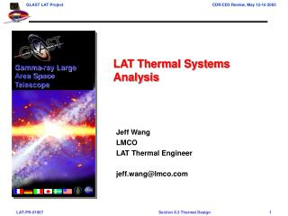 Jeff Wang LMCO LAT Thermal Engineer jeff.wang@lmco