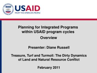 Planning for Integrated Programs  within USAID program cycles  Overview