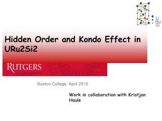 Hidden Order and Kondo Effect in URu2Si2