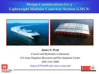Design Considerations for a  Lightweight Modular Causeway Section (LMCS)