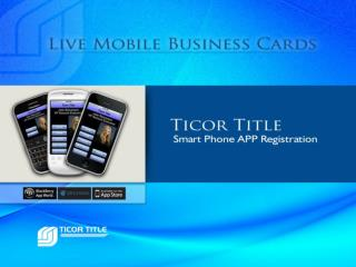 What is the  Live Mobile Business Card ?