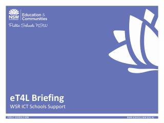 eT4L Briefing