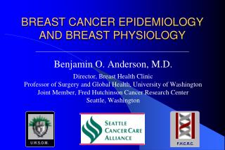 BREAST CANCER EPIDEMIOLOGY  AND BREAST PHYSIOLOGY