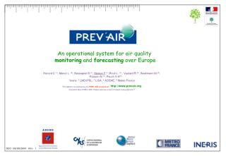 An operational system for air quality  monitoring  and  forecasting  over Europe