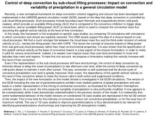Control of deep convection by sub-cloud lifting processes: