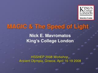 MAGIC & The Speed of Light