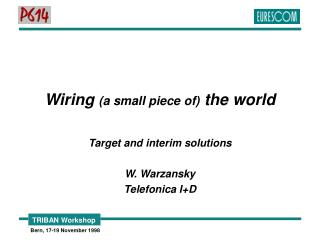 Wiring  (a small piece of)  the world