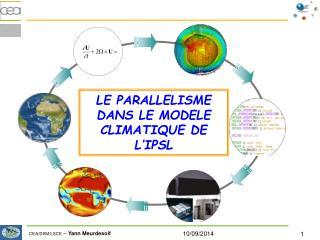 LE PARALLELISME DANS LE MODELE CLIMATIQUE DE L'IPSL