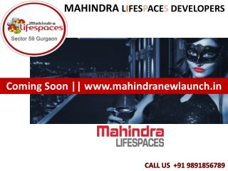 Mahindra Lifespaces Ch@ice @f Size & Price!! 9891856789 !!