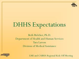 DHHS Expectations
