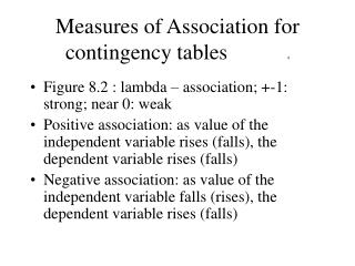 Measures of Association for contingency tables           4