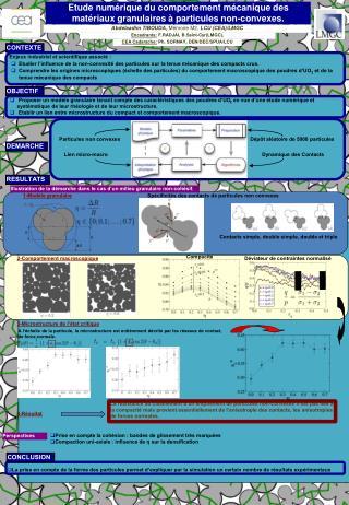 Etude numérique du comportement mécanique des matériaux granulaires à particules non-convexes.