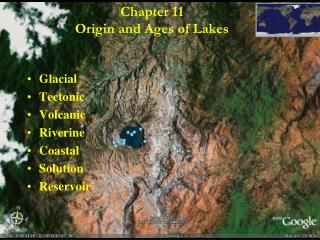 Chapter 11 Origin and Ages of Lakes