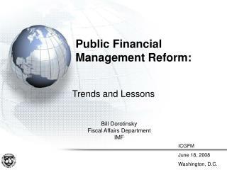 Public Financial  Management Reform:
