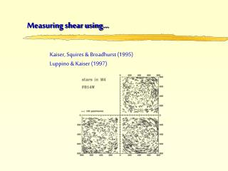 Measuring shear using…