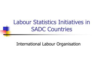 Labour Statistics Initiatives in SADC Countries