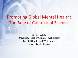 Promoting Global Mental Health: The Role of Contextual Science