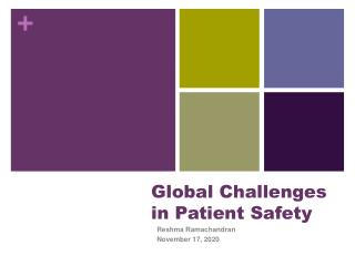 Global Challenges in Patient Safety