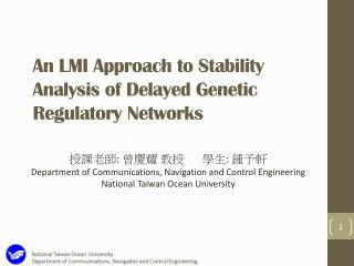An LMI Approach to Stability Analysis of Delayed Genetic Regulatory Networks