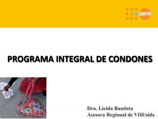 PROGRAMA INTEGRAL DE CONDONES