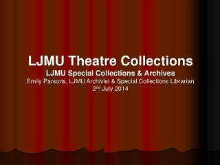 LJMU Theatre Collections