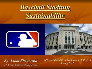 Baseball Stadium Sustainability