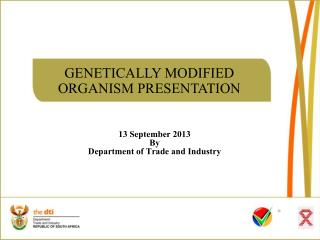 13 September 2013 By Department of Trade and Industry