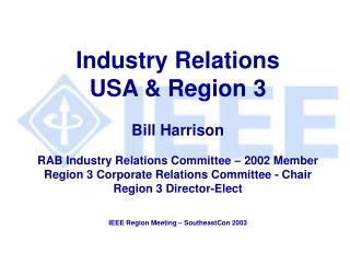 Industry Relations (USA)