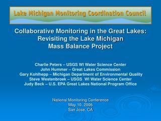National Monitoring Conference May 10, 2006 San Jose, CA