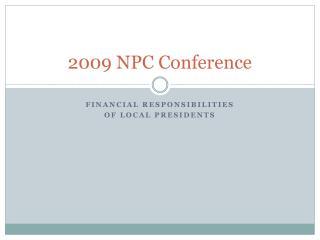 2009 NPC Conference