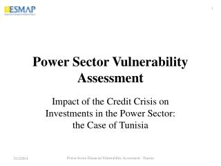 Power Sector Vulnerability Assessment