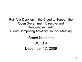 Brand Niemann US EPA December 17, 2009
